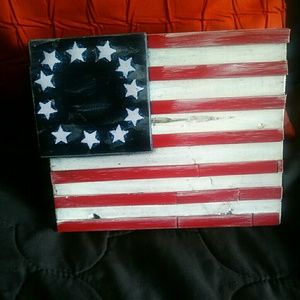 Flag wood art